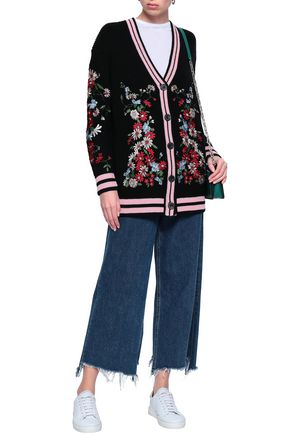 7b4310ec70713 MAJE Embroidered knitted cardigan