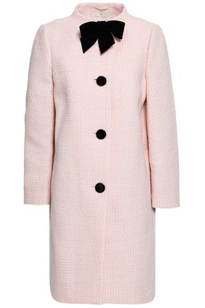 KATE SPADE New York Ma Cherie bow-embellished cotton-blend tweed coat