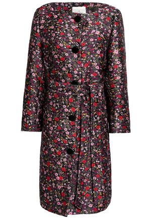 KATE SPADE New York Ma Cherie floral-design brocade coat