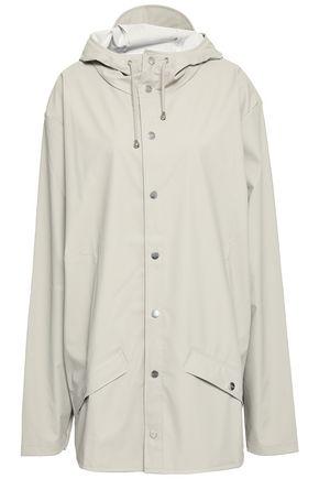 RAINS Coated-shell hooded jacket