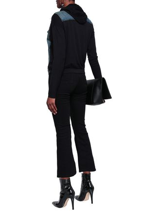 BAILEY 44 Jersey-paneled denim hooded jacket