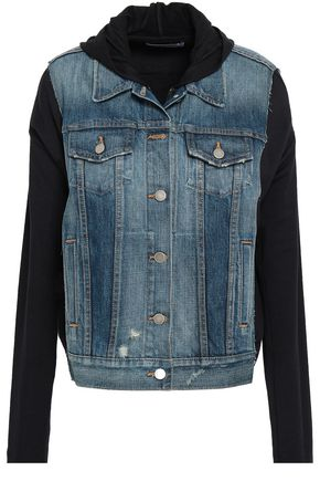 BAILEY 44 Jersey-paneled denim hooded jacket