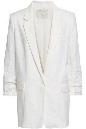 JOIE Kishina ruched linen blazer