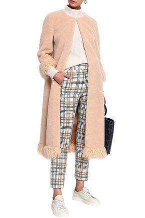 SHRIMPS Ramsey faux fur-trimmed faux shearling coat
