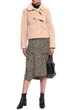 SHRIMPS Oliver bow-embellished faux shearling coat