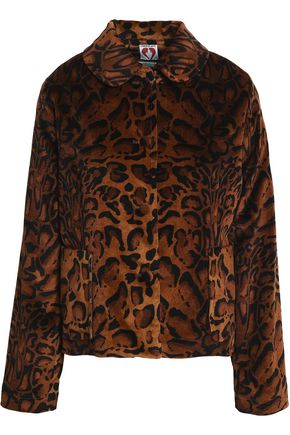 SHRIMPS Printed velvet jacket