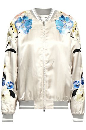 3.1 PHILLIP LIM Embroidered satin bomber jacket
