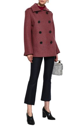 DEREK LAM 10 CROSBY Double-breasted wool-blend coat