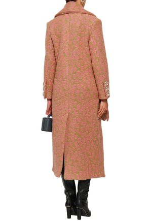PAPER London Rainbow leopard-print felt coat