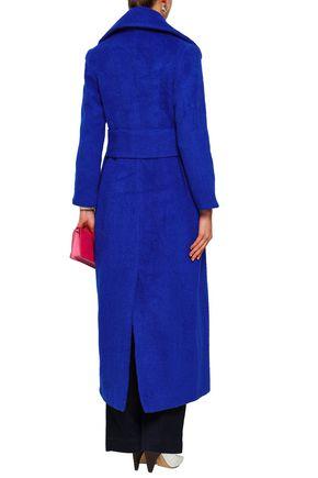 PAPER London Belle brushed wool-blend coat