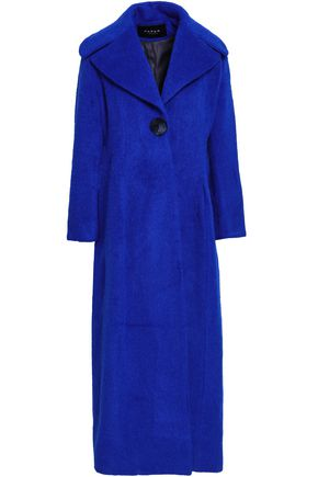 PAPER London Belle brushed wool-blend coat