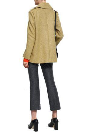 DEREK LAM 10 CROSBY Double-breasted wool-blend coat