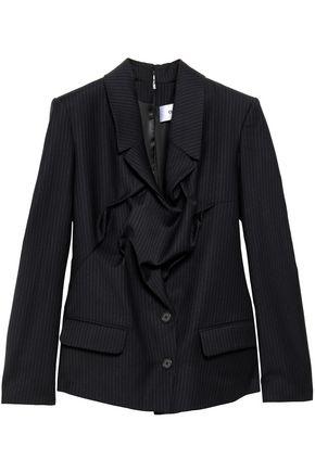 CHALAYAN Gathered pinstriped woven blazer