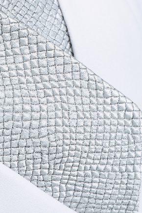 SAFIYAA Jacquard-paneled crepe peplum jacket