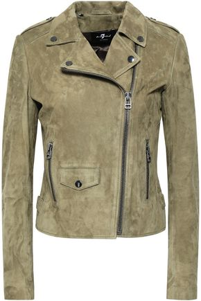 7 FOR ALL MANKIND Suede biker jacket