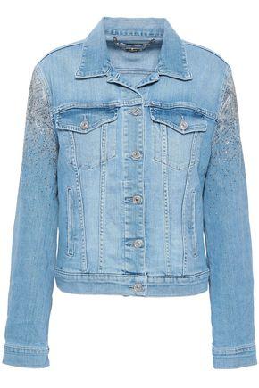 7 FOR ALL MANKIND Crystal-embellished denim jacket