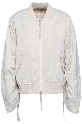 VINCE. Ruched shell bomber jacket