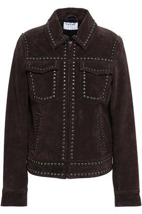 FRAME Studded suede jacket