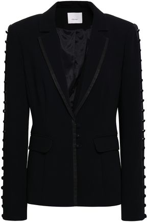 CINQ À SEPT Button-detailed crepe blazer