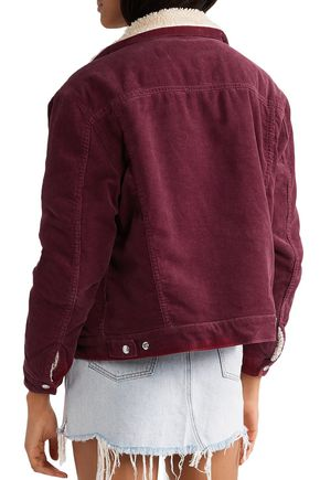 RE/DONE Faux shearling-lined cotton-corduroy jacket