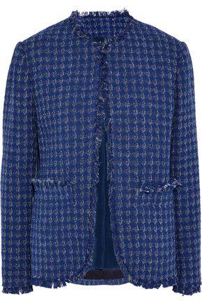 MSGM Metallic cotton-blend tweed jacket