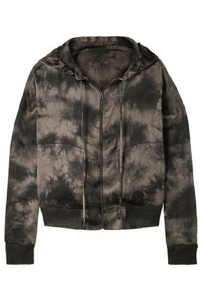 ATM ANTHONY THOMAS MELILLO Tie-dyed silk-charmeuse hoodie