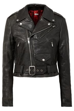 RE/DONE Cropped leather biker jacket