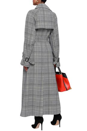 ETRO Prince of Wales checked wool and mohair-blend trench coat
