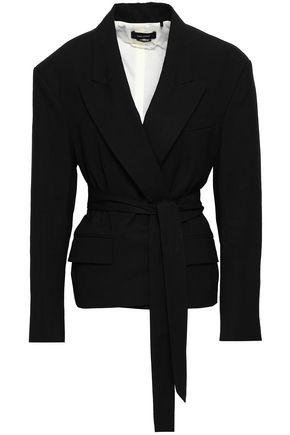 ISABEL MARANT Belted linen-blend blazer