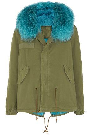 MR & MRS ITALY Shearling-trimmed cotton-gabardine coat