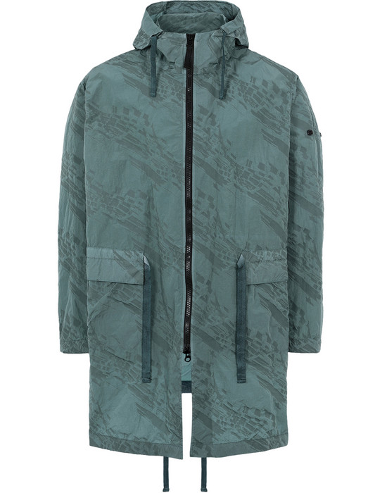 STONE ISLAND SHADOW PROJECT CAPOSPALLA LUNGO 70305 PACKABLE RAINCOAT (IMPRINT NYLON)