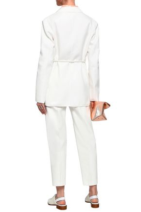 JIL SANDER Belted cotton-twill jacket