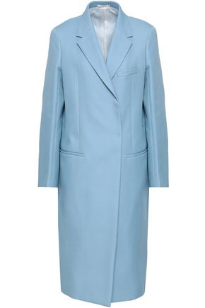 JIL SANDER Double-breasted cotton-twill coat