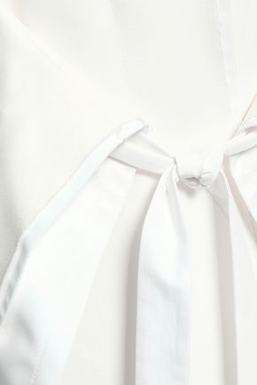 JIL SANDER Belted cotton-blend jacket