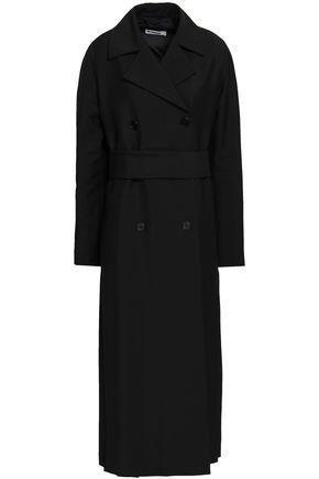 JIL SANDER Belted wool-blend twill coat