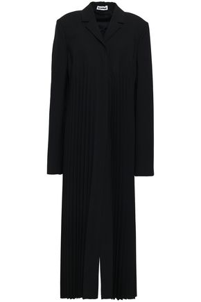 JIL SANDER Pleated wool-blend coat