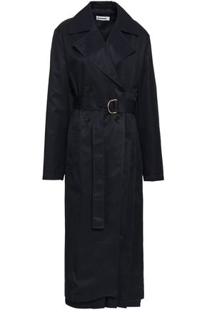 JIL SANDER Double-breasted cotton-twill trench coat