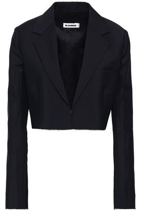 JIL SANDER Cropped wool-blend jacket