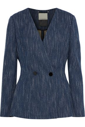 BY MALENE BIRGER Delgada double-breasted cotton-blend tweed blazer