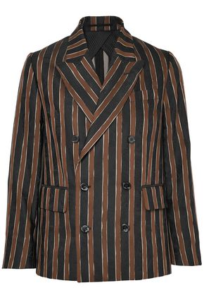 GOLDEN GOOSE DELUXE BRAND Double-breasted striped jacquard blazer