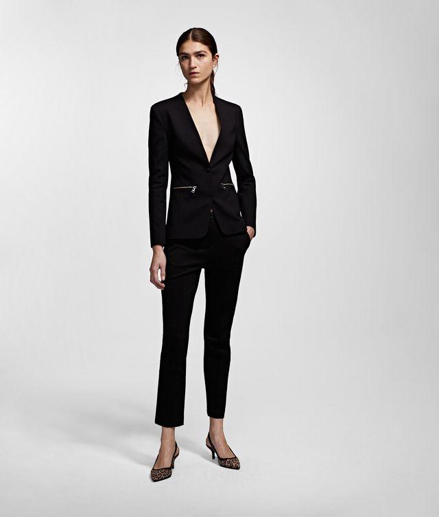 Karl Lagerfeld - Punto-Jacke mit Logotape - 1