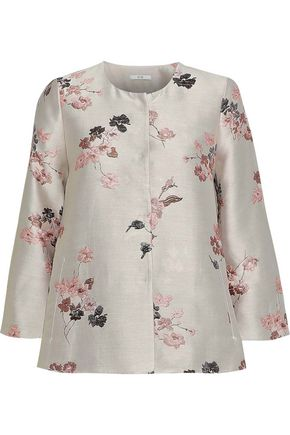 CO Floral-jacquard jacket