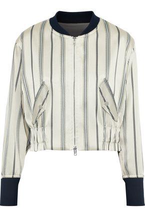 3.1 PHILLIP LIM Striped satin-twill bomber jacket
