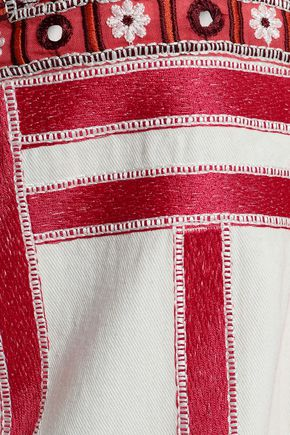FIGUE Liraz embellished cotton-twill jacket