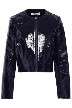 DIANE VON FURSTENBERG Patent-leather jacket