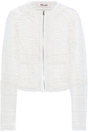 DIANE VON FURSTENBERG Guipure lace jacket