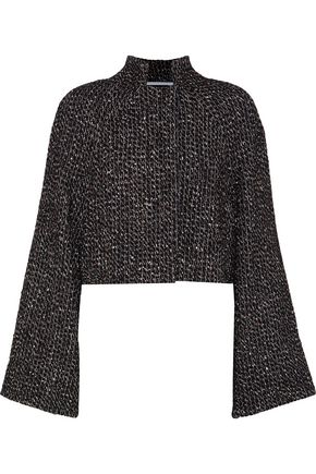 ROSETTA GETTY Cropped metallic wool-blend bouclé jacket