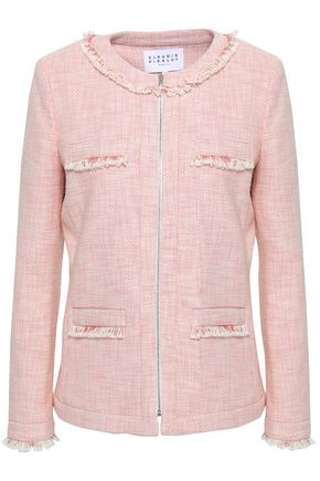 CLAUDIE PIERLOT Frayed cotton-blend tweed jacket