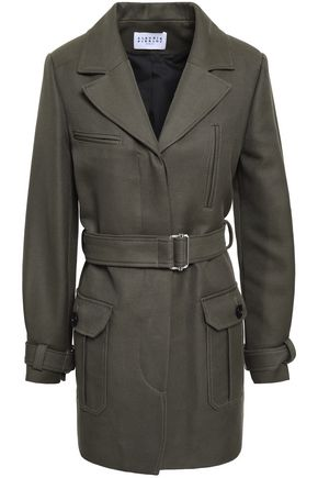 CLAUDIE PIERLOT Belted cotton-blend twill jacket