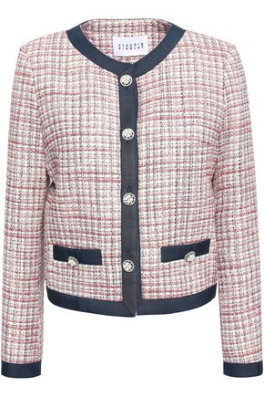 CLAUDIE PIERLOT Valeria embellished cotton-tweed jacket